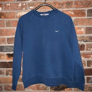 Vintage Nike check navy blue sweater